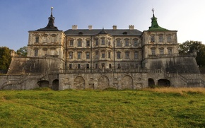 Wallpaper Lviv, Pidhirtsi Castle, lawn, Lions, Ukraine, grass, castle