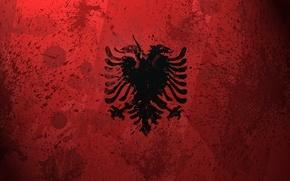 Wallpaper paint, flag, Albania, Albania