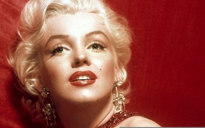 Picture red, woman, Marilyn Monroe, Norma Jean