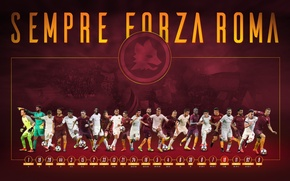 Picture wallpaper, sport, team, football, AS Roma, players