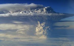 Wallpaper ash, smoke, the volcano, Chile, Puyehue, Puyehue