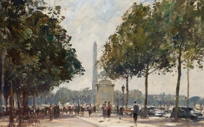 Picture picture, the urban landscape, Edward Seago, The entrance to the Elysian Fields
