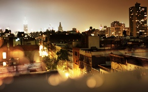 Picture city, the city, lights, the evening, new York, USA, megapolis, usa, new-york. new york