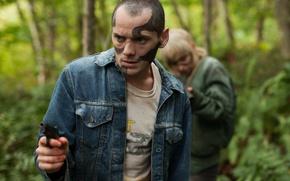 Picture cinema, girl, gun, pistol, forest, weapon, woman, man, movie, blonde, film, hunter, Nazi, caucasian, National …