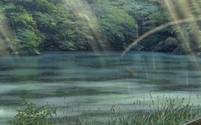 Picture Greens, Nature, Rain, Park, Anime, Foliage, Makoto Xingkai, Anime, Rain, Wallpaper, The Garden Of Words, …