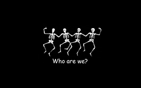 Picture white, black, who we are, Skeletons