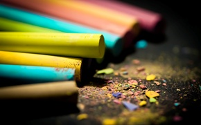Picture color, macro, Wallpaper, bright, pictures, blur, wallpapers, crayons, chips