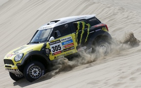 Picture Yellow, Race, Mini Cooper, Rally, Dakar, MINI, Mini Cooper, X-raid, Competition