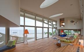 Picture design, style, interior, living space, futurism, Villa Round