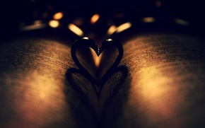 Picture background, heart, book, the Bible