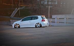 Picture white, volkswagen, Golf, golf, Volkswagen, gti, stance, mk5