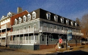 Picture Art, Painting, Cold Spring, Hudson House, Cold Spring Hudson House