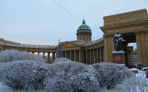 Picture winter, the city, Saint Petersburg, Cathedral, Kazan Cathedral
