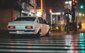 Picture night, street, the transition, night, datsun, Datsun