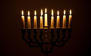 Picture Janucá, candle holders, fire, menorah, candles, light