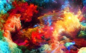 Picture pattern, paint, color, rainbow, rainbow, the volume, pattern, spot, relief, color, paints, volume, spot, relief