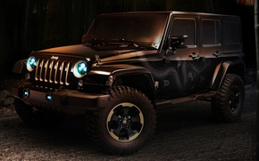Picture lights, Dragon, concept, SUV, the concept, Jeep, twilight, Dragon, the front, Wrangler, Ringler, Jeep