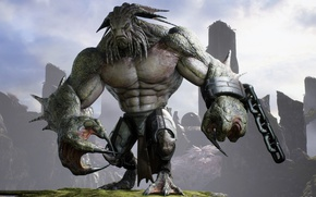Picture game, monster, strong, chain, Rampage, kraken, Paragon