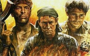"Picture classic, military, 1986, Willem Dafoe, Charlie Sheen, ""Platoon"", Platoon, Tom Berenger"