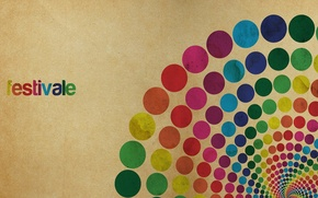 Picture circles, abstraction, style, patterns, paint, colors, style, circles, patterns, abstraction, festivale, 1980x1080