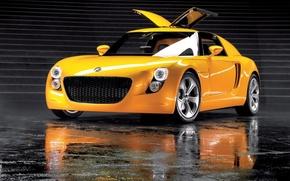 Picture yellow, Volkswagen, EcoRacer