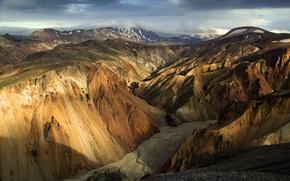 Wallpaper rays, snow, mountains, river, solar, ranges