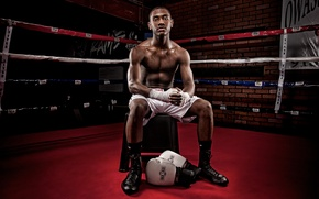Picture gloves, the ring, muscle, black, Boxer