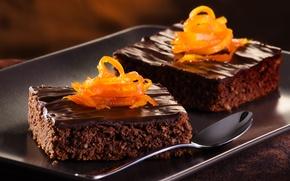 Picture orange, food, chocolate, dessert, cakes, cakes, sweet