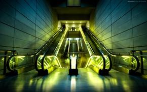 Wallpaper streamline, ladyrapid, light, escalator