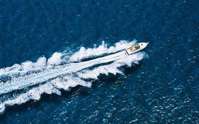 Picture wave, Sea, boat