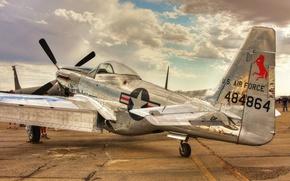Wallpaper aircraft, Mustang, P-51