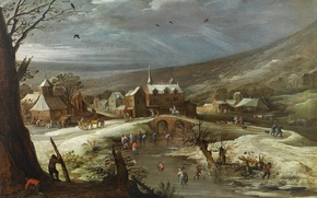 Picture picture, Jan Brueghel the elder, Winter Landscape