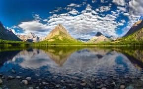 Picture Glacier National Park, Swiftcurrent Lake, Grinnell Peak