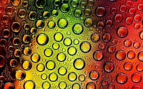 Picture color, drops, circles
