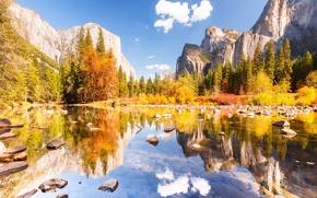 Wallpaper autumn, the sky, clouds, nature, Yosemite national Park