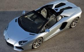 Picture Roadster, the view from the top, roadster, LP700-4, Lamborghini, Lamborghini Aventador