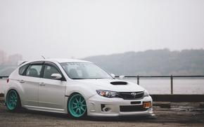 Picture white, subaru, impreza, Subaru, sti, Impreza