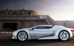 Picture white, future, Citroen