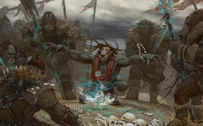 Picture art, Fantasy, Orc, shaman