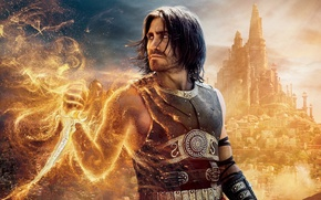 Wallpaper sand, the city, fire, movie, tower, dagger, Prince of Persia, Prince Of Persia, the sun's ...