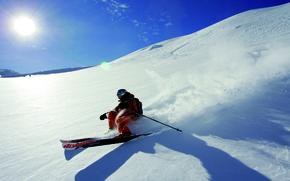 Picture winter, snow, ski, free ride, moutain, skier