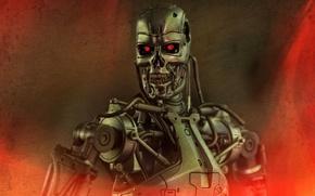 Picture background, toy, robot, figurine, Terminator, T-800