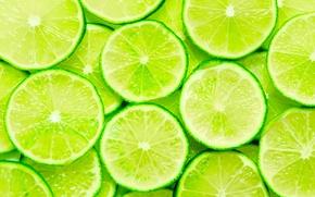 Wallpaper freshness, food, taste, blur, green, lime, fruit, citrus, vitamins, slices, dumb-dumb, slices, bokeh, lime, juicy, ...