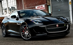 Picture black, jaguar, coupe, f-type
