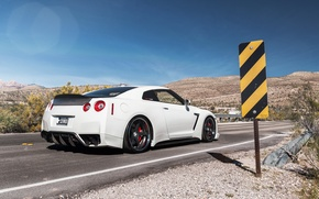 Picture sign, tuning, back, Nissan, nissan gtr