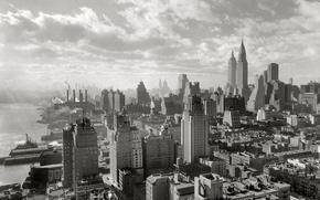 Picture retro, home, New York, panorama, USA, Manhattan, 1931-the year