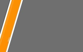 Picture grey, strip, minimalism, orange