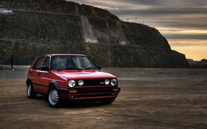 Wallpaper landscape, photo, Classic, view, cars, auto, wallpapers auto, Wallpaper HD, Photography, Volkswagen Golf, Gti, Retro