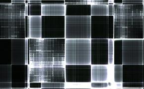 Wallpaper Squares, Line, Black