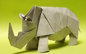 Wallpaper paper, origami, Rhino